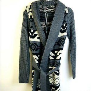 New Fluent Life Long Wrap Cardigan Aztec Design